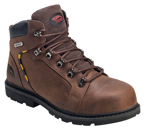 Avenger Mens Nano Tech Comp Toe EH PR WP Boot M Brown Leather Boots