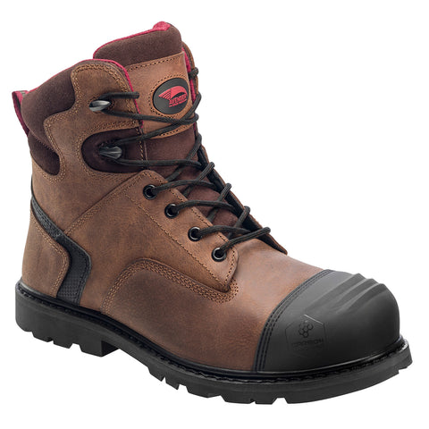 Avenger Mens Comp Toe EH Work Boots M Brown Leather