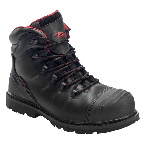 Avenger Mens Black Leather Comp Toe 6in Carbon PR WP Work Boots