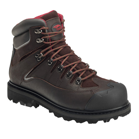 Avenger Mens Brown Leather Comp Toe 6in Rugged WP EH Work Boots