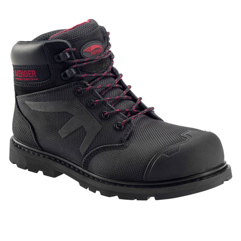 Avenger Mens Black Aramid Comp Toe 6in AR WP PR Work Boots