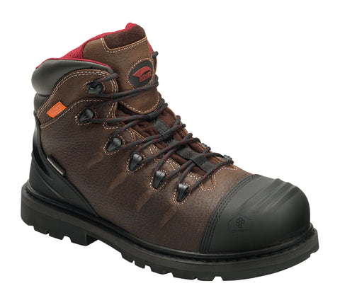 Avenger Mens Brown Leather Comp Toe Hammer Int Met Work Boots