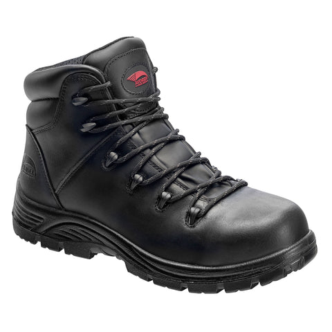 Avenger Mens Black Leather Soft Toe 6in SR WP Hiker Work Boots