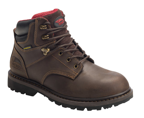 Avenger Mens Brown Leather Soft Toe 7636 Sabre WP Work Boots