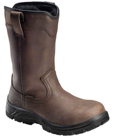 Avenger Mens EH WP Wellington W Brown Leather Soft Toe Boots