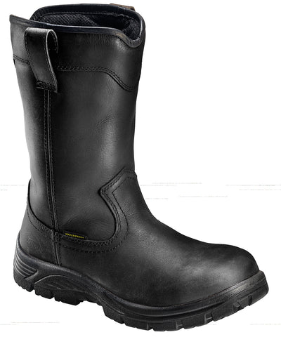 Avenger Mens Composite Toe EH WP Wellington M Black Leather Boots