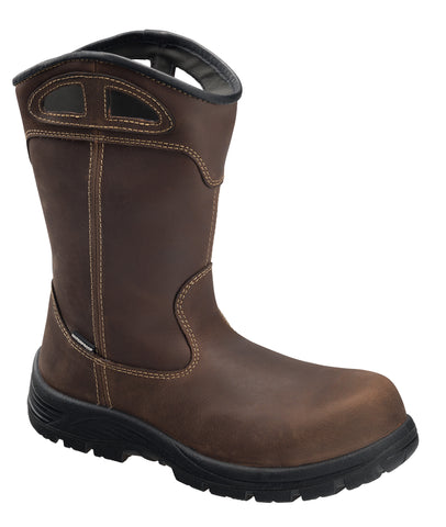 Avenger Mens Brown Leather Comp Toe Framer Wellington Work Boots