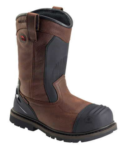 Avenger Mens Brown/Black Leather Comp Toe Wellington Met Work Boots