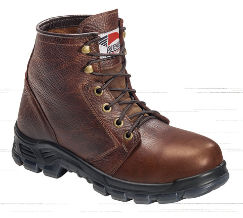 Avenger Mens Steel Toe EH Built In USA Boot W Brown Leather Boots
