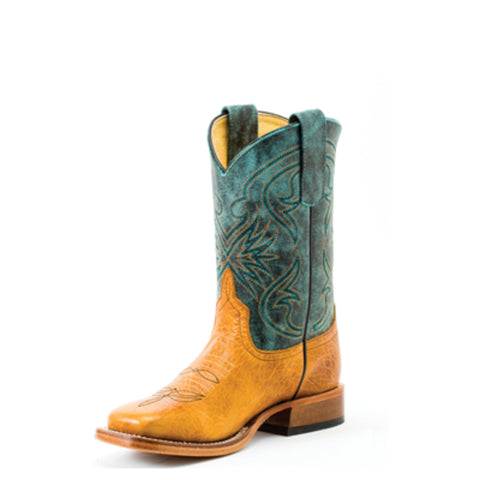 Anderson Bean Kids Boys Green Leather Jeremiah Bullfrog Cowboy Boots