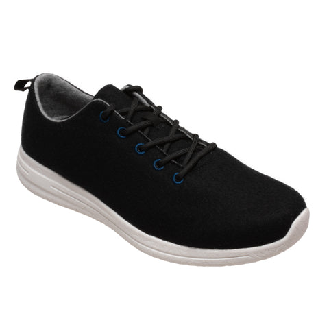 FreeShield Mens Black Wool Athletic Sneaker Merino Wool