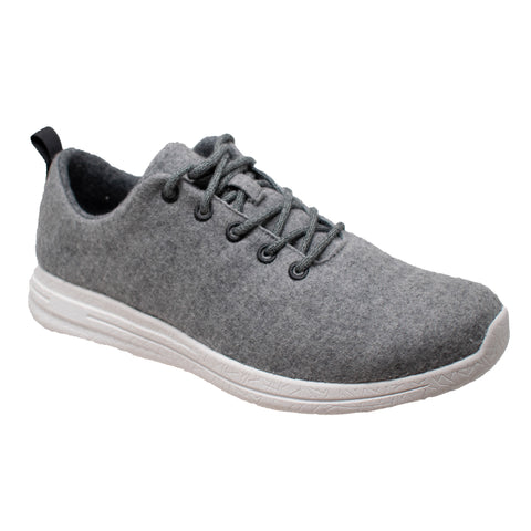 FreeShield Mens Grey Wool Athletic Sneaker Merino Wool