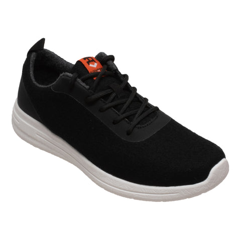 FreeShield Womens Black Wool Athletic Sneaker Merino Wool