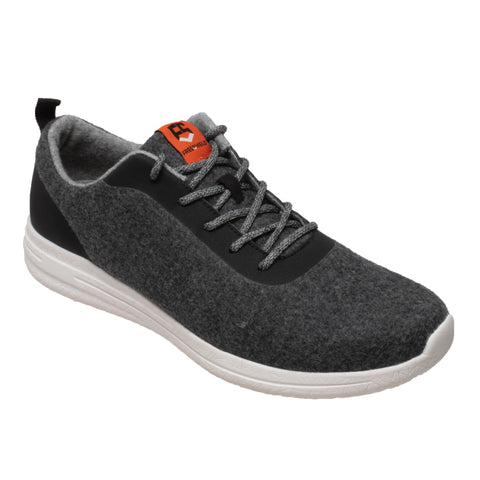 FreeShield Womens Charcoal/Black Wool Athletic Sneaker Merino Wool