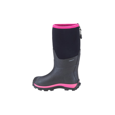 Dryshod Arctic Storm Kids Childrens Foam Black/Pink Winter Boots