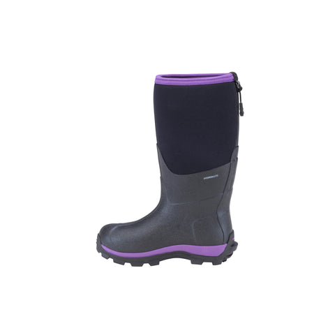 Dryshod Arctic Storm Kids Childrens Foam Black/Purple Winter Boots