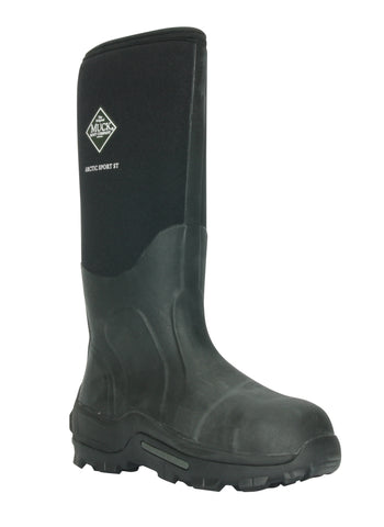 Muck Arctic Sport Steel Toe Work Black Boots Performance