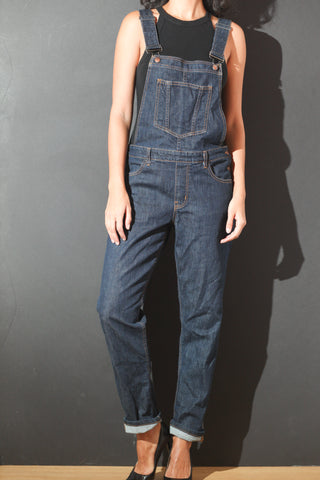 Kimes Ranch Womens Anna Overalls Blue Cotton Blend Straight Leg
