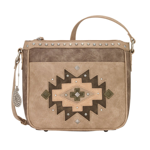 Bandana by American West Earth Bound Crossbody Bag Stone Faux Leather