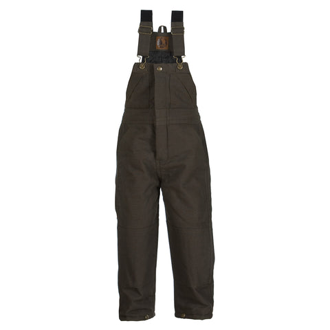Berne Boys Olive 100% Cotton Toddler Insulated Bib Overall