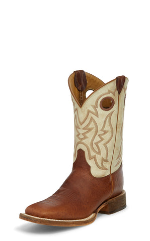 Justin 11in Mens Desert Bone Caddo Leather Cowboy Boots