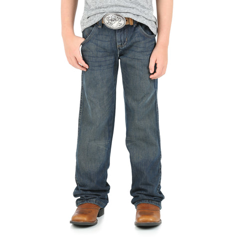 Wrangler Night Sky 100% Cotton Boys Retro Boot Cut Jeans