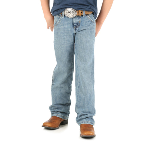 Wrangler Boys Ocean Water 100% Cotton Retro Boot Cut Jeans
