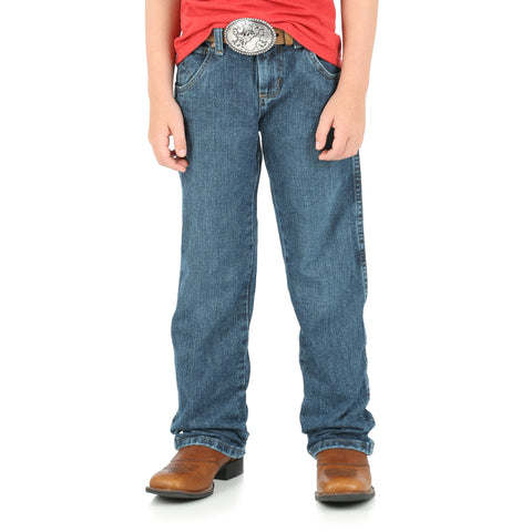 Wrangler Everyday Blue 100% Cotton Boys Retro Straight Jeans