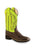 Old West Green Children Girls Broad Square Toe Cowboy Western Boots