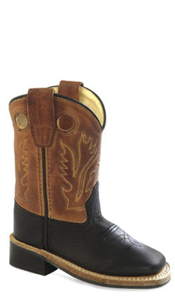 Old West Brown Toddler Boys Square Toe Cowboy Western Boots 4 D