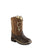 Old West Brown Toddler Boys Side Zip Cowboy Western Boots