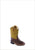 Old West Yellow Toddler Boys Broad Square Toe Cowboy Western Boots