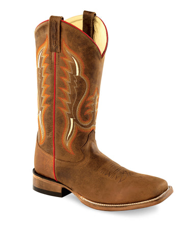 Old West Copper Mens Caprice Leather Cowboy Western Boots Boots