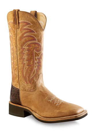 Old West Tan Mens Leather 13in Crepe Cowboy Western Boots Boots