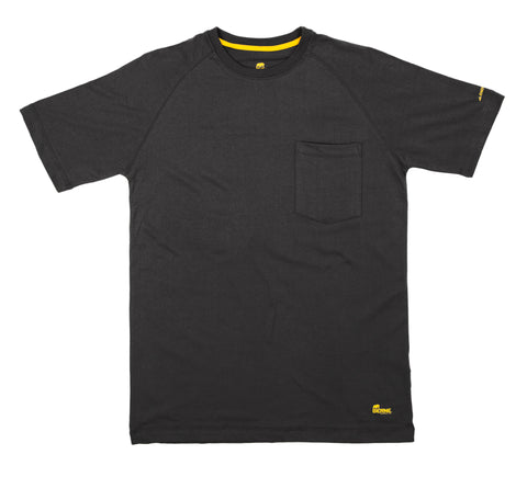 Berne Mens Black Cotton Blend Performance Short Sleeve Tee S/S