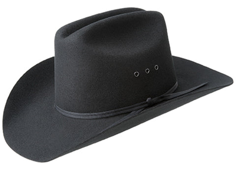 Bailey Bucky Black Unisex Kids Wool Western Hat Cattleman