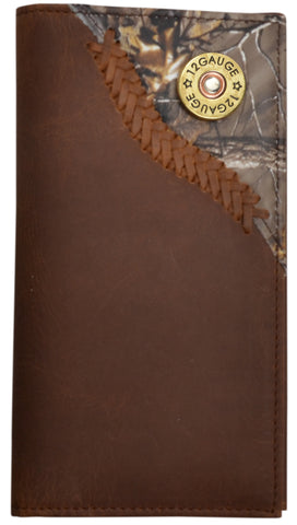 Badger Brown Leather Rodeo Wallet Realtree AP Camo