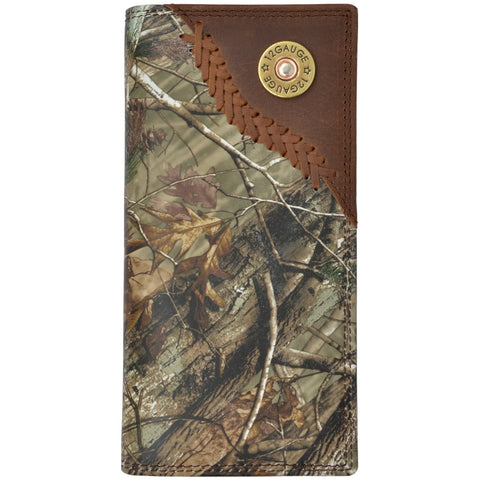 Badger Realtree AP Leather Rodeo Wallet Shotgun Concho Camo