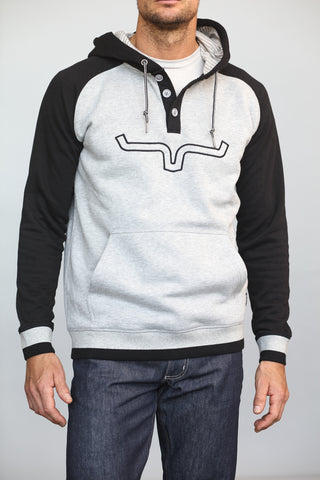 Kimes Ranch Mens Blaze Hood Hoodie Heather Grey Cotton Blend
