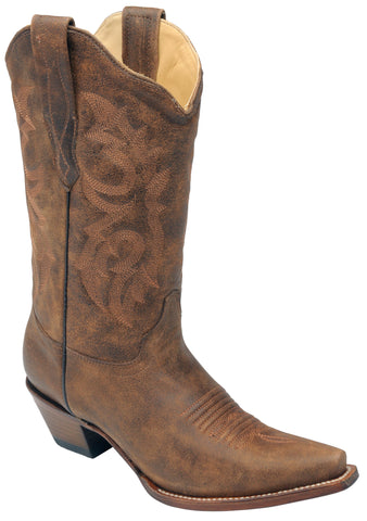 Corral Boots Womens Leather Distressed Nahm Brown Cowgirl