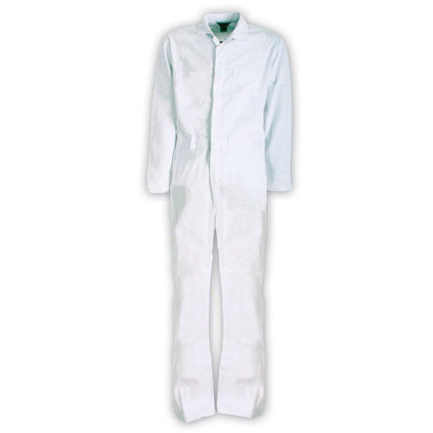 Berne Mens White Cotton Blend Unlined Coverall