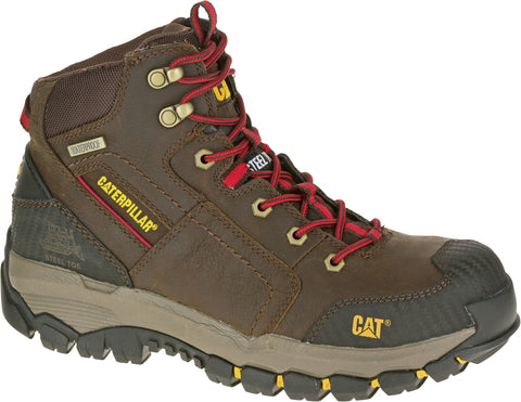 CAT Footwear Mens Navigator Mid Clay Leather Work Boots