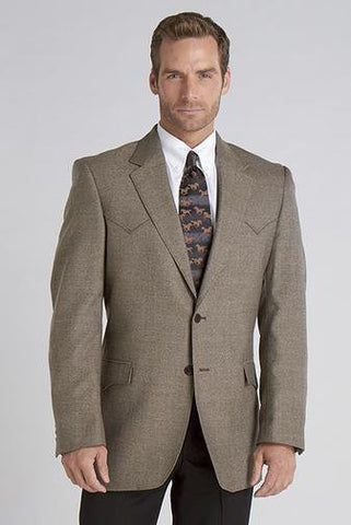 Circle S Mens Donegal Brown 100% Lambswool Plano Sportcoat Jacket Blazer 54 RX