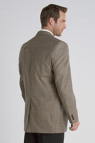 Circle S Mens Donegal Brown 100% Lambswool Plano Sportcoat Jacket Blazer