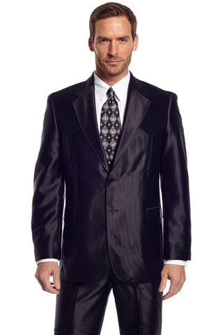 Circle S Mens Black Polyester Swedish Knit Boise Sportcoat Jacket Blazer