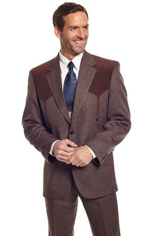 Circle S Mens Heather Chestnut Polyester Boise Sportcoat Western