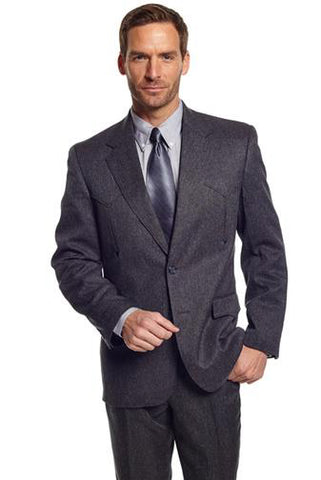 Circle S Mens Charcoal Polyester Vegas Sportcoat Western