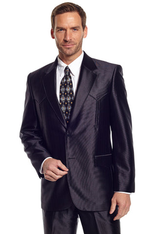 Circle S Mens Black Polyester Swedish Knit Tulsa Sportcoat Jacket Blazer