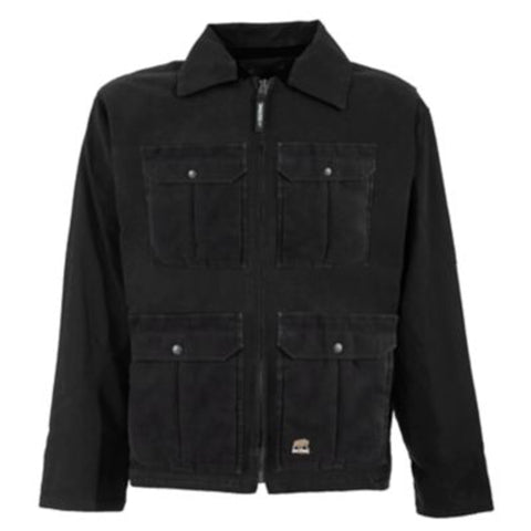 Berne Mens Black 100% Cotton Echo One One Jacket