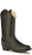 Old West Black Youth Girls Corona Calf Leather Round Toe Cowboy Boots